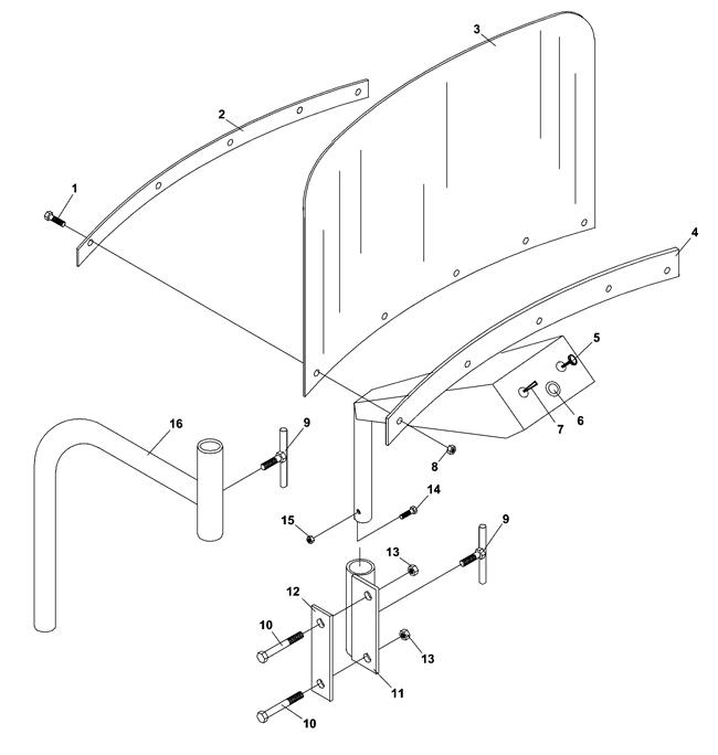 73 70880 Boom Mower Bm425 Jacobsen Control Panel