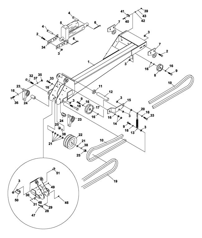 43119 73 70880a boom mower, bm425 (steiner) \u003e boom parts