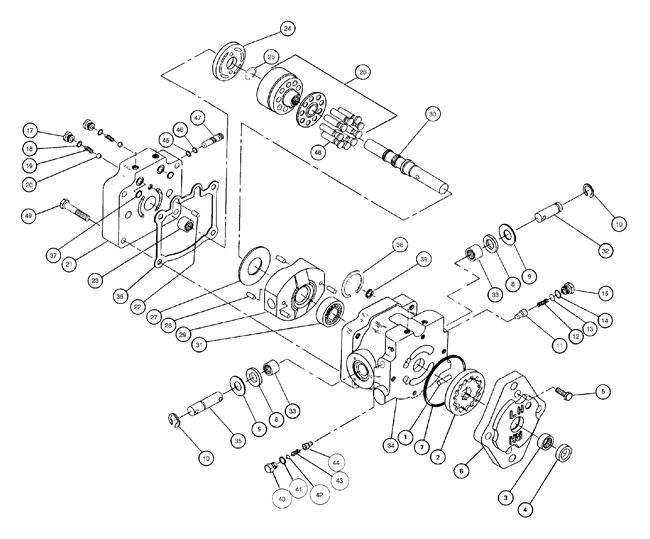 75 60005 410b 20hp Onan Hydraulic Pump