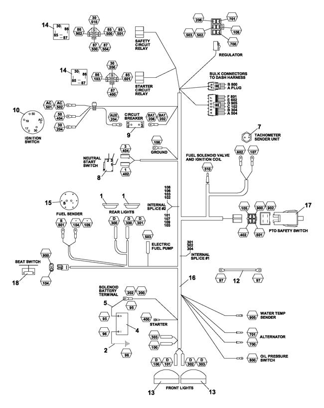 75 70006 430 max 25hp kubota gas (steiner) \u003e electrical kubota gas steiner tractor wiring diagram at Steiner Wiring Diagram