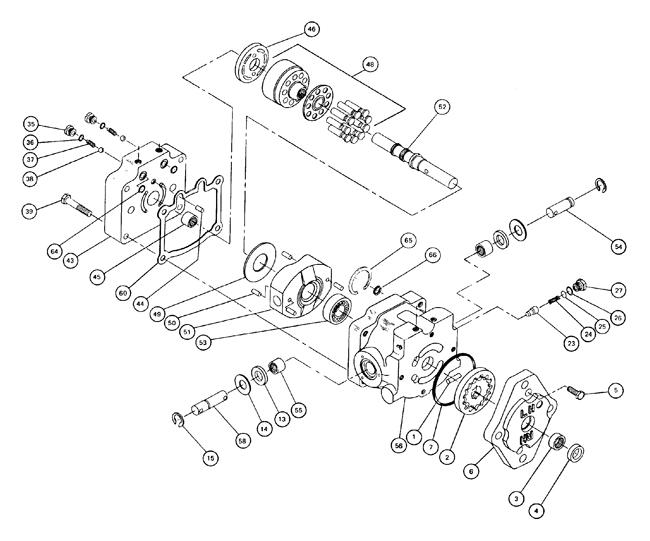 75 70025 425e 21 5hp Kubota Diesel Sundstrand Series 15 Pump