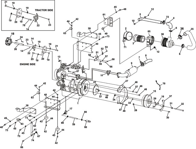 440 4wd Kubota Diesel Sn 000400 And Above Kubota Diesel Engine